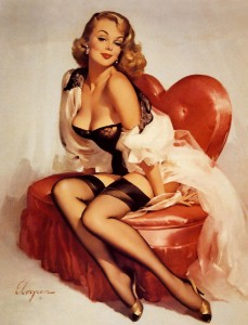 50's art heart chair
