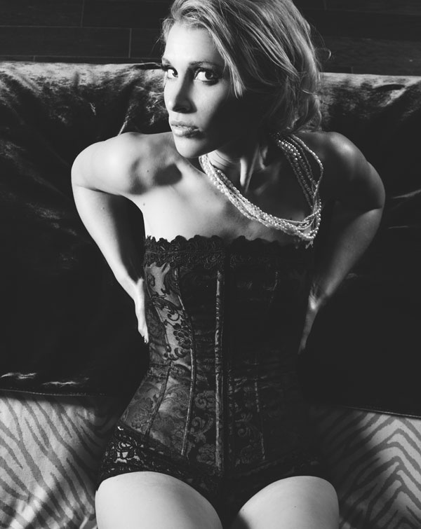 gorgeous boudoir photo girl in corset